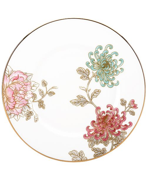 Marchesa by Lenox Dinnerware, Painted Camellia Accent Plate