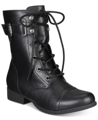 Image of American Rag Fionn Lace-Up Combat Boots, Created for Macy's