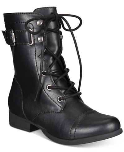 American Rag Fionn Lace-Up Combat Boots, Created for Macy's