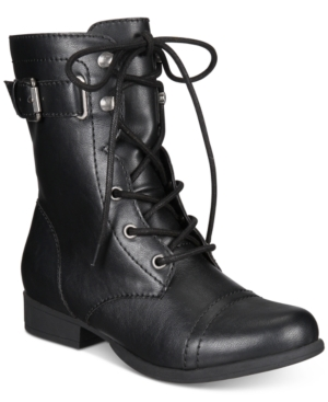 American Rag Fionn Lace-Up Combat Boots, Created for Macy