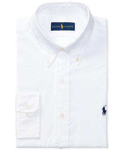 Polo Ralph Lauren Men's Pinpoint Oxford Solid Dress Shirt - Dress ...