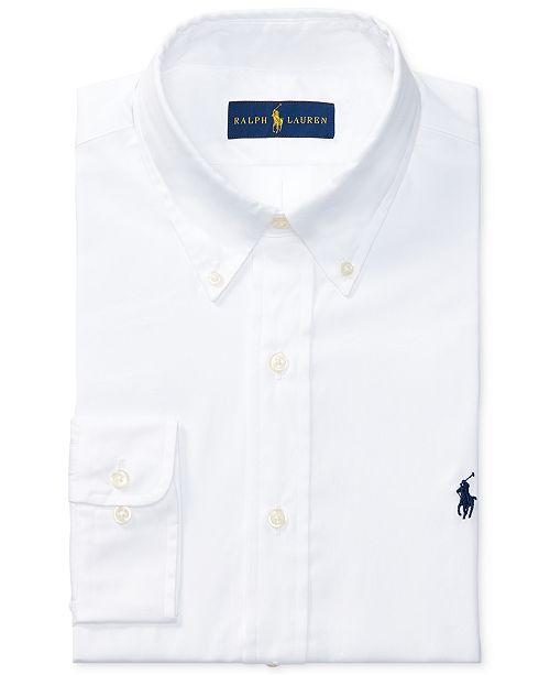 Polo Ralph Lauren Men s Pinpoint Oxford Solid Dress Shirt - Dress ... 3f6f872170d8