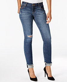 Kut from the Kloth Petite Asher Straight-Leg Ankle Jeans