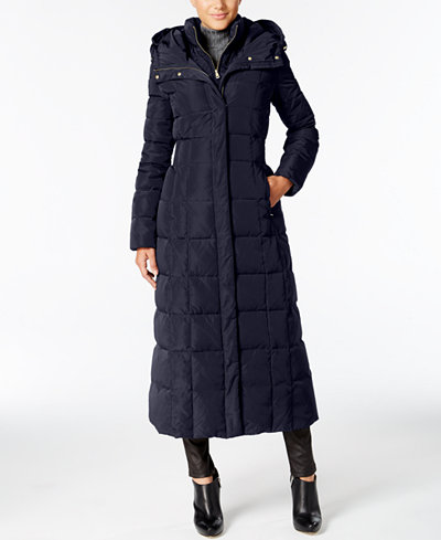 Cole Haan Signature Hooded Down Maxi Puffer Coat Coats