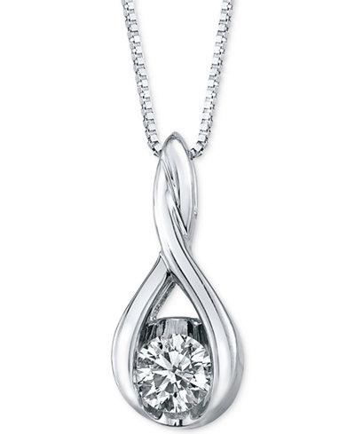 Sirena Diamond Twist Pendant 18