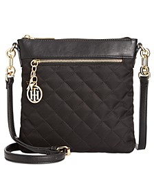 Quilted Charm North-South Crossbody