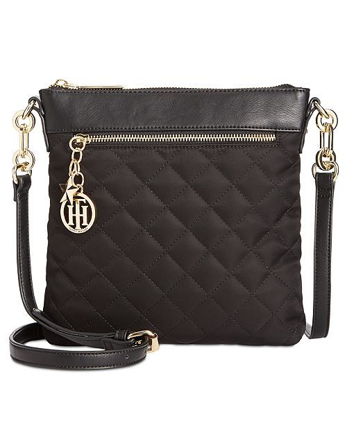 3113cfd56278ef Tommy Hilfiger Quilted Charm North-South Crossbody & Reviews ...