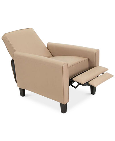 Almonte Faux Leather Recliner Club Chair, Quick Ship