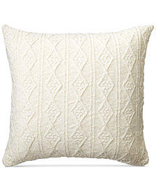 "Lauren Ralph Lauren Lakeview Cable-Knit 20"" Square Decorative Pillow"