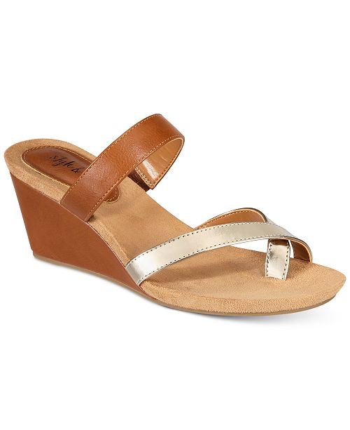 1dff7bb86 Style   Co Madelaa Slip-On Wedge Sandals
