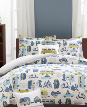 InkIvy Kids Road Trip Reversible 4Pc FullQueen Comforter Set Bedding