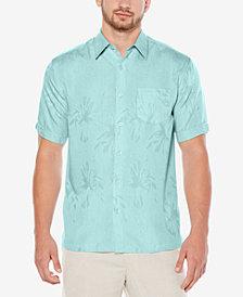 Cubavera Floral Jacquard Short-Sleeve Shirt