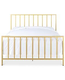 Slat Metallic Queen Bed