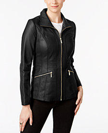 Anne Klein Scuba Leather Jacket