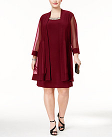R & M Richards Plus Size Shift Dress and Jacket