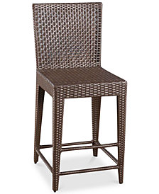 Brawlin Wicker Bar Stool, Quick Ship
