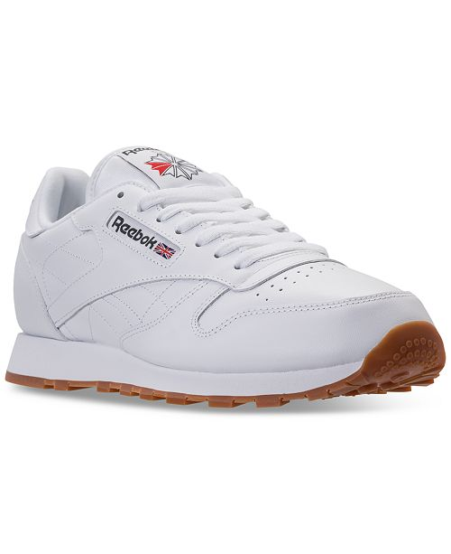 detailed look 4c732 e7c12 ... Reebok Men s Classic Leather Casual Sneakers from Finish ...