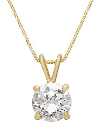 Giani bernini 18k gold over sterling silver necklace cubic zirconia giani bernini 18k gold over sterling silver necklace cubic zirconia pendant 1 ct aloadofball Gallery