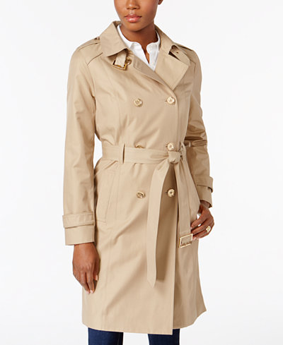MICHAEL Michael Kors Double-Breasted Trench Coat, A Macy's Exclusive