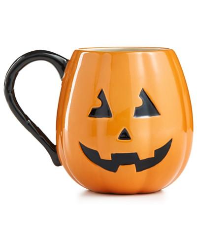 Martha Stewart Collection Jack-O-Lantern Mug, Created for Macy's