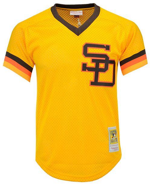 best website 4bcfe 1271b Men's Tony Gwynn San Diego Padres Authentic Mesh Batting Practice V-Neck  Jersey