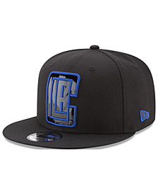 New Era Los Angeles Clippers Patent Blackout 9FIFTY Snapback Cap