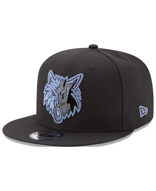 New Era Minnesota Timberwolves Patent Blackout 9FIFTY Snapback Cap