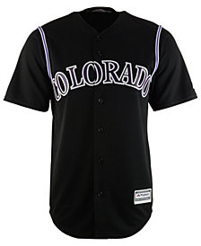 Majestic Men's Colorado Rockies Blank Replica Cool Base Jersey