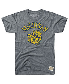 Retro Brand Men's Michigan Wolverines Tri-Blend Vault Logo T-Shirt