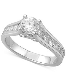 Diamond Channel-Set Engagement Ring (1-1/4 ct. t.w.) in 14k White Gold