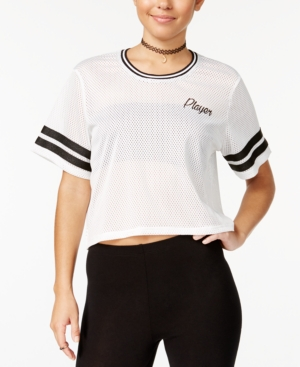 Material Girl Juniors Mesh Player Graphic Crop TShirt Created for Macys