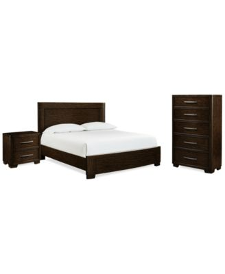 Fairbanks Queen Bedroom Furniture, 3-Pc. Set (Bed with USB Outlets, Chest and Nightstand), Created for Macy's