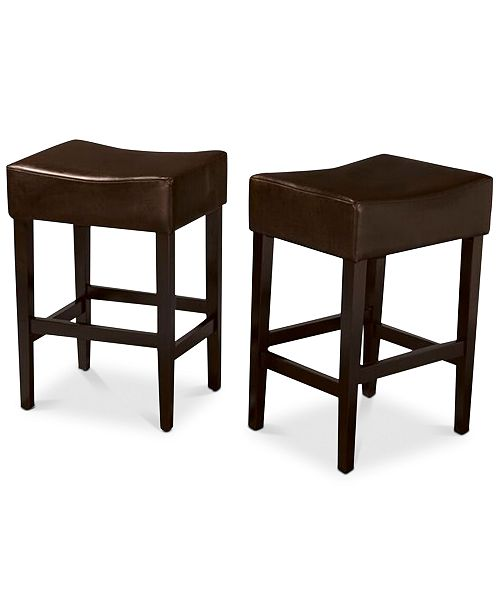 Noble House Dawken Backless Bar Stool (Set of 2), Quick Ship