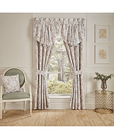 "Croscill Nellie Cotton 41"" x 84"" Pole Top Pair of Window Panels"