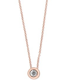 EFFY® Diamond Bezel Solitaire Pendant Necklace (1/5 ct. t.w.)