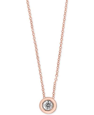 Effy diamond bezel solitaire pendant necklace 15 ct tw effy diamond bezel solitaire pendant necklace 15 ct tw aloadofball Images