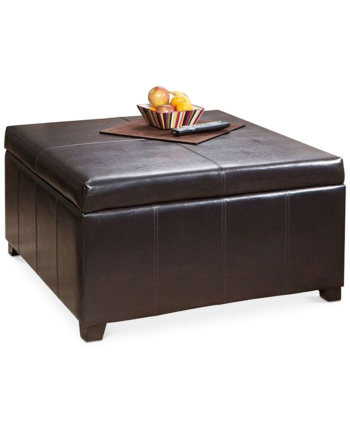 Noble House - Hywel Storage Ottoman, Quick Ship