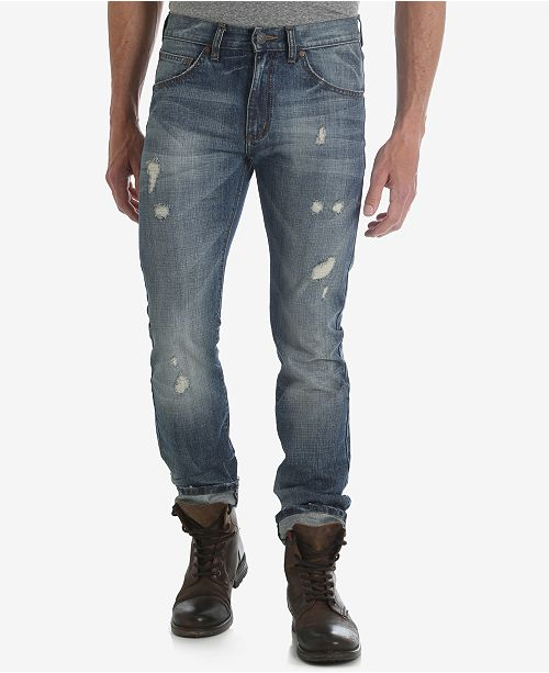 672151de Wrangler Men's Slim Fit Ripped Jeans & Reviews - Jeans - Men - Macy's