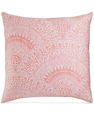 Charter Club Damask Designs Pima Cotton Poppy Patchwork Medallion-Print European Sham, Created for Macy's