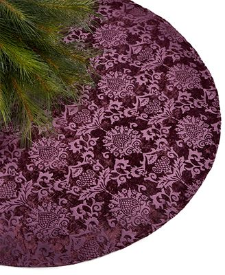 Holiday Lane Purple Velvet Tree Skirt, Created for Macy's