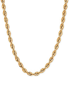 "22"" Rope Chain Slider Necklace in 14k Gold"