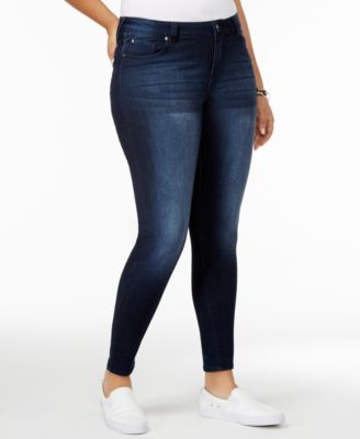 Celebrity Pink Womens High Rise Ankle Skinny Jeans