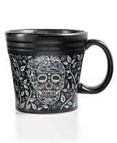 Fiesta Skull and Vine Tapered Mug