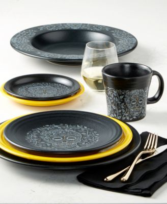 Fiesta Skull and Vine Dinnerware Collection & Fiesta Skull and Vine Dinnerware Collection - Dinnerware - Dining ...