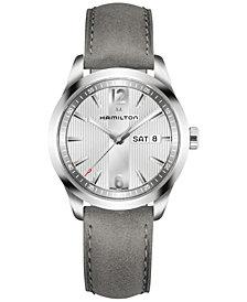 Hamilton Men's Swiss Broadway Gray Leather Strap Watch 40mm