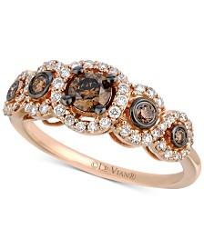 Le Vian Chocolatier® Diamond Ring (3/4 ct. t.w.) in 14k Rose Gold