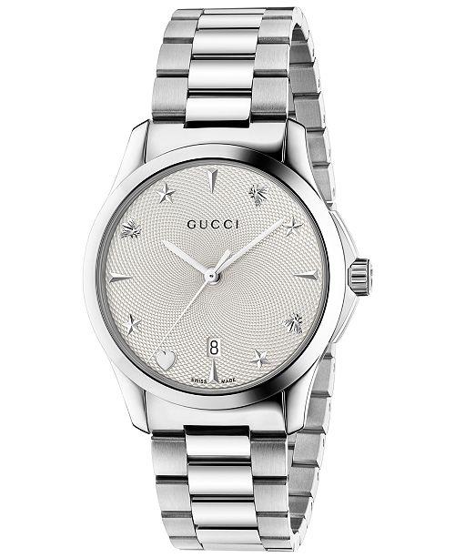 5b700748b7f ... Gucci Unisex Swiss G-Timeless Stainless Steel Bracelet Watch 38mm ...
