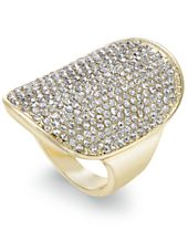 INC International Concepts Gold-Tone Pavé Statement Ring, Created for Macy's