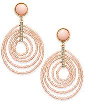 INC International Concepts Gold-Tone Beaded Spiral Orbital Drop Earrings, Created for Macy's