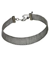 INC International Concepts Hematite-Tone Mesh Choker Necklace, Created for Macy's